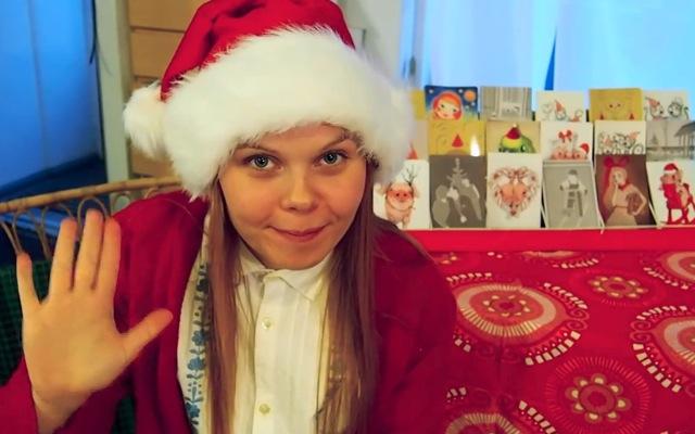 joulukorttikauppa, joulukortti, joulu, Elli Maanpää