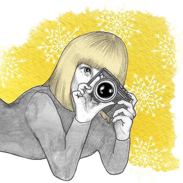 header, blog, illustration, keltainen villasukka,