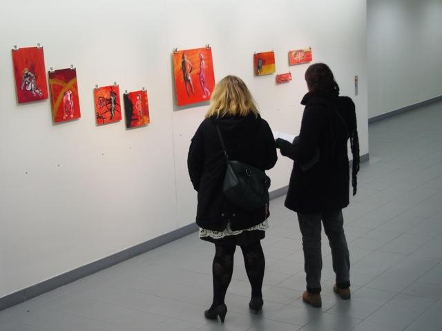 exhibition, Lähtöviivalla, Elli Maanpää, painting