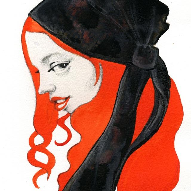 witch, illustration, Elli Maanpää, art