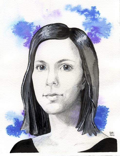 blue_portrait_painting_ellimaanpaa_2014