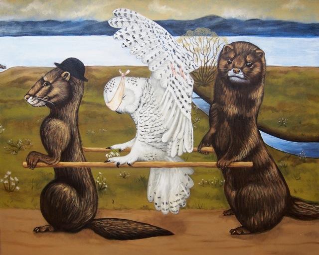 Uhanalaiset_elli-maanpaa_painting_simberg_2015_4