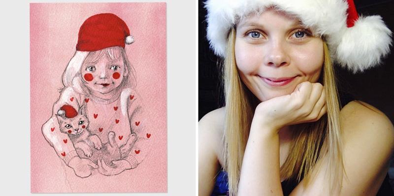 joulukorttikauppa, Elli Maanpää, 2015