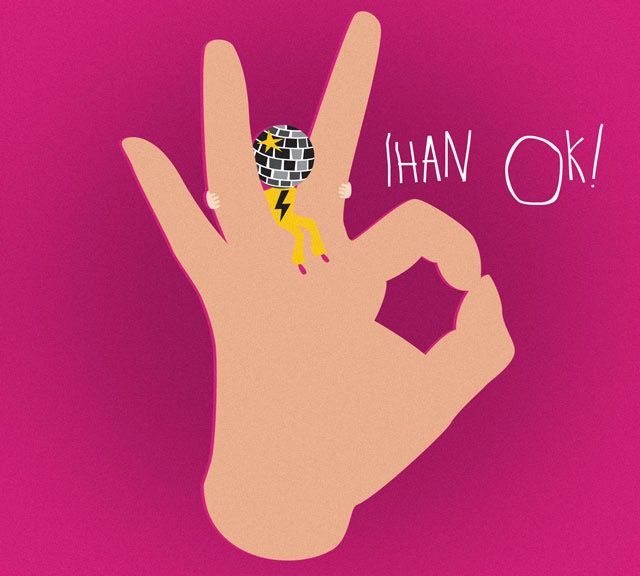 CD cover illustration - Ukkosmaine: Ihan OK! Published by Juki Records 2016
