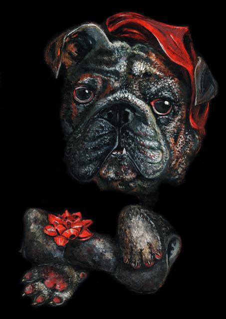 Elli Maanpää Art - Royal Animal Portrait: Dog - 21cm x 29cm - 2016