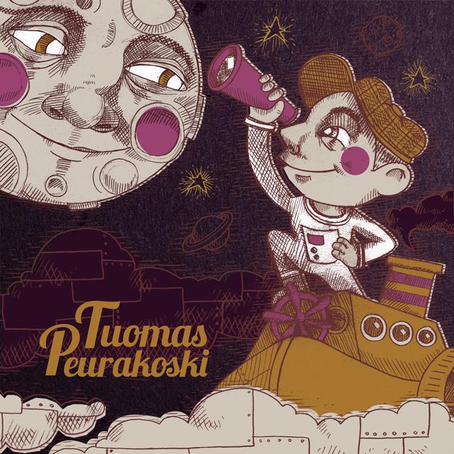 CD Cover illustration - Tuomas Peurakoski: Kosmonautti. Published by Tuomas Peurakoski 2017