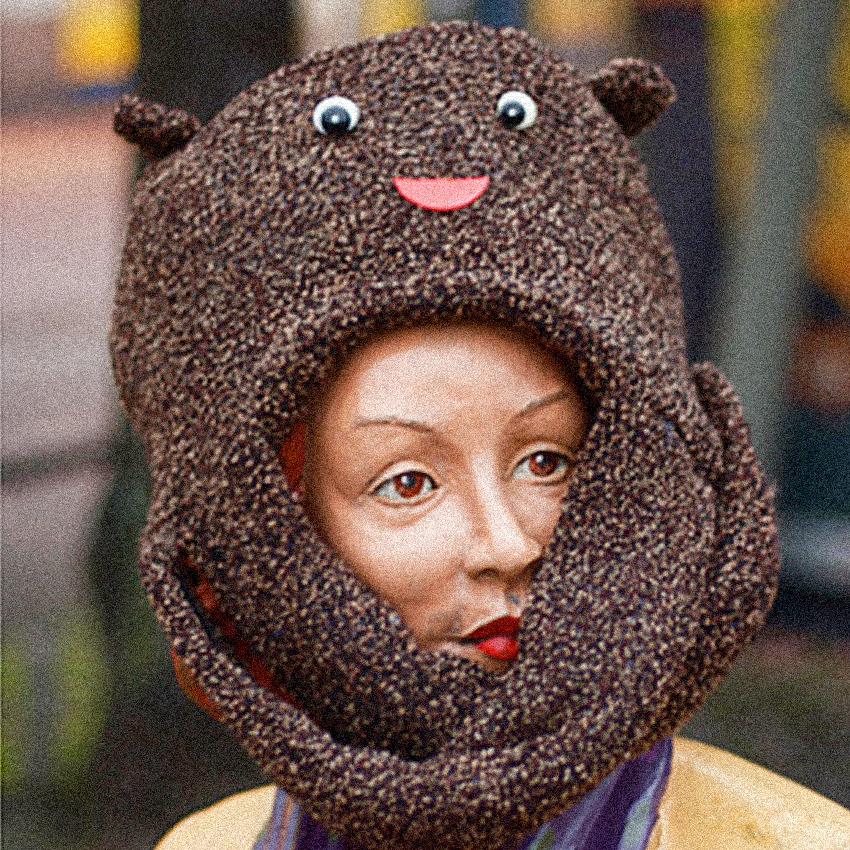 Fine Art Fur Hat Friend Elli Maanpää