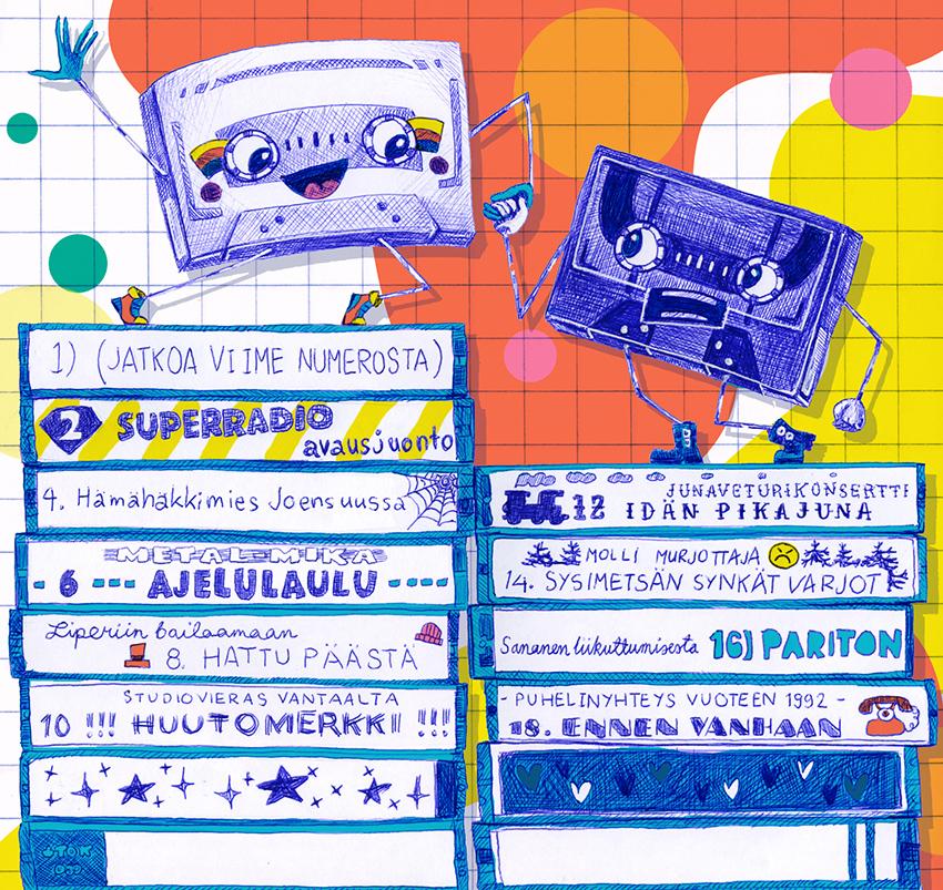 Back cover - Ville Karttunen: Superradio. Published by Juki Records 2017