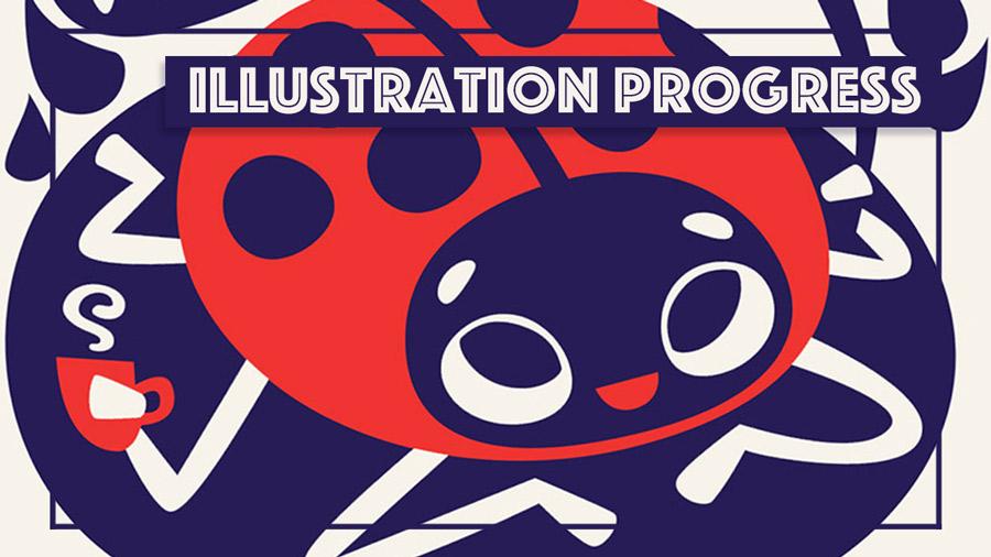 Ladybug Illustration - Elli Maanpää 2018