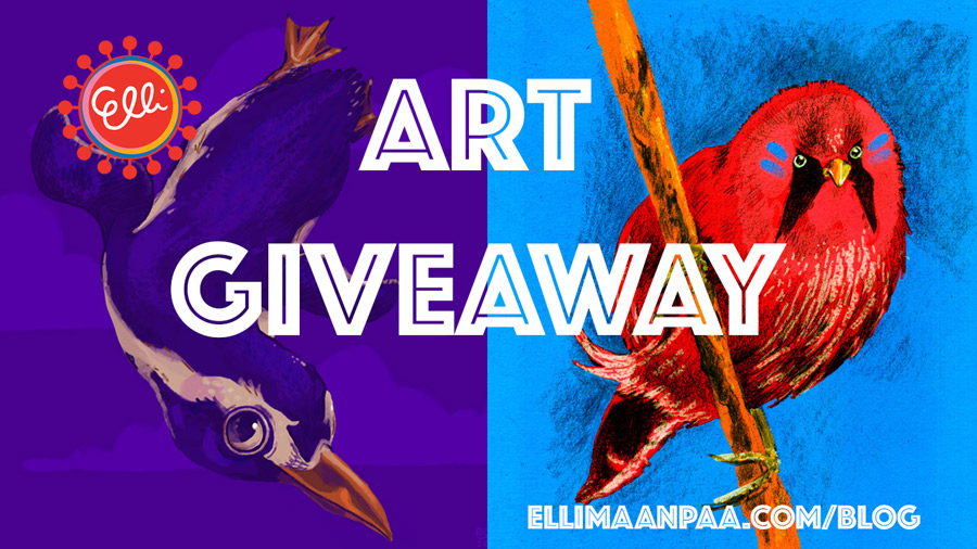 Art Giveaway // Elli Maanpää Art Blog 2018