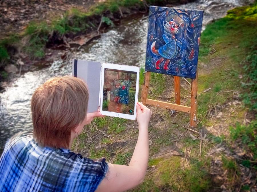 Augmented Painting, Elli Maanpää, 2019