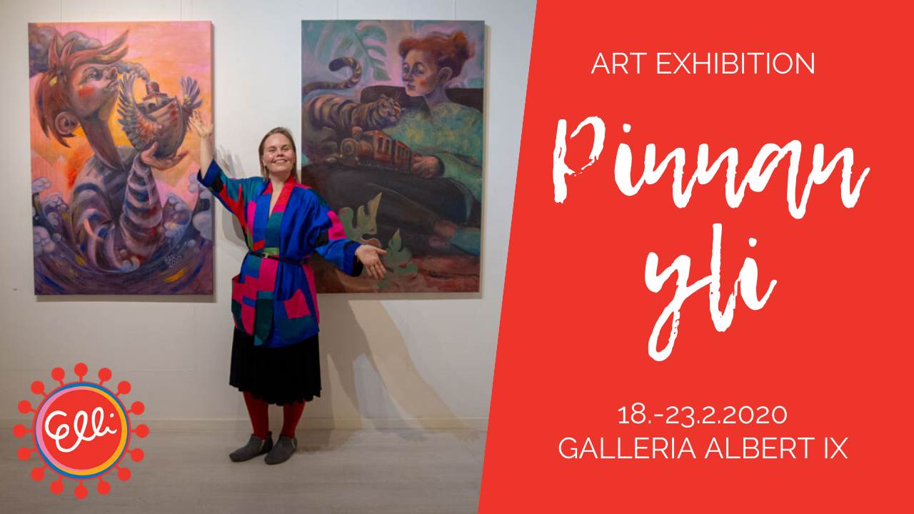 Elli Maanpää - Pinnan yli - art exhibition in Galleria Albert IX (Albertinkatu 9) in Helsinki 18.-23.2.2020