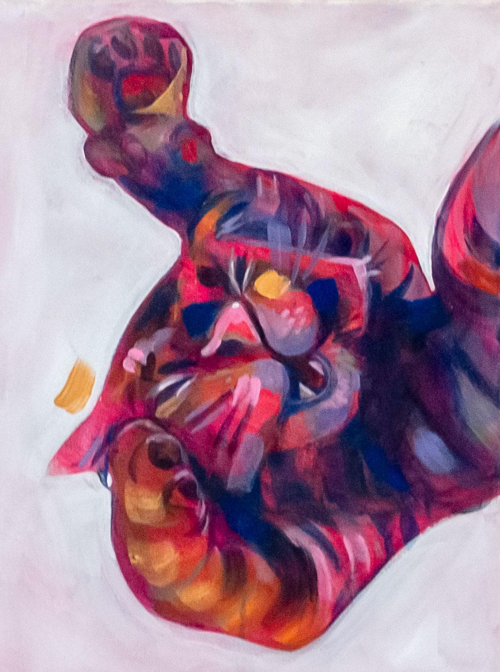 """""""Luuppi"""" Acrylic on canvas. Elli Maanpää. 30 x 40 cm. 2020."""