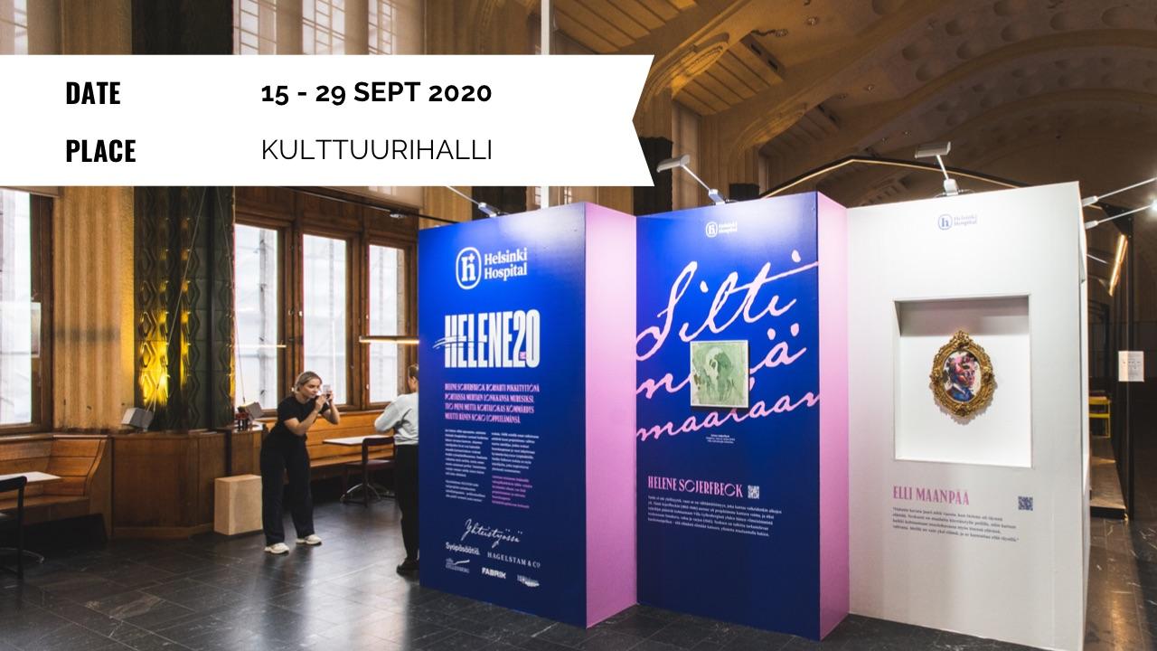 Exhibition: Helene20 - 15 to 19 Sept 2020 - Kulttuurihalli, Helsingin Rautatieasema, Finland