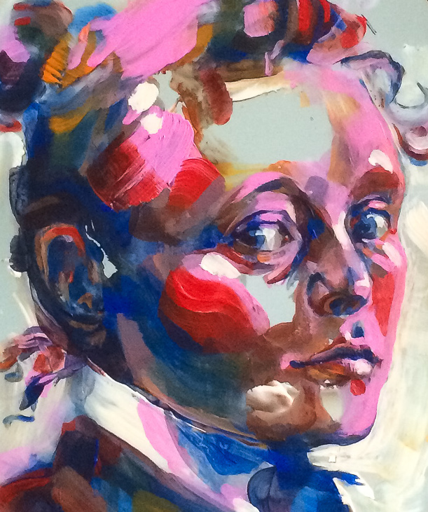 """Helenen peilikuva"" Acrylic on mirror. Close up. Elli Maanpää. 2020."