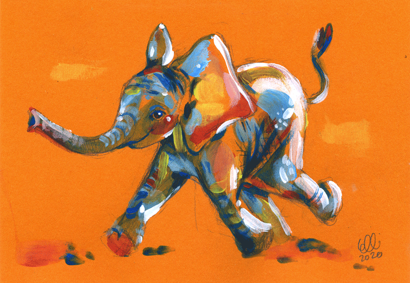 Taidetta luonnon puolesta: Elefantti, Elli Maanpää, 2020