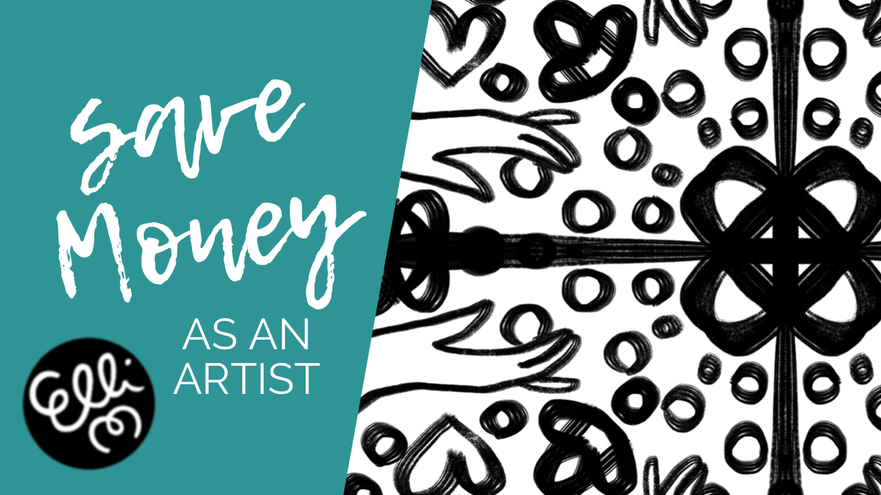 How to save money as an artist - 10 tips on saving money by Elli's Illustration