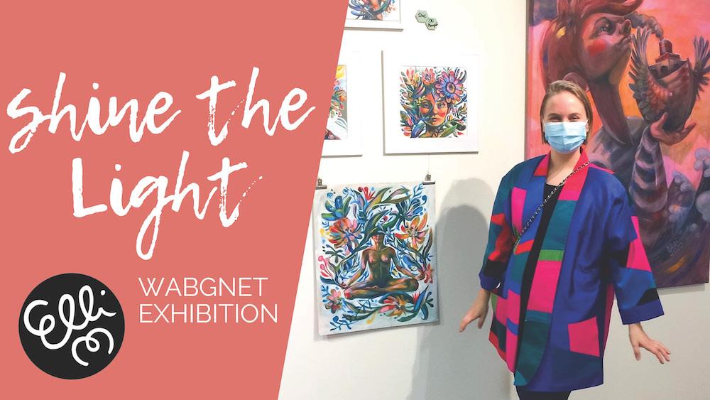 """WABGNET - """"Shine The Light"""" taidenäyttely Jumbo-Flamingo Galleriassa 2021"""