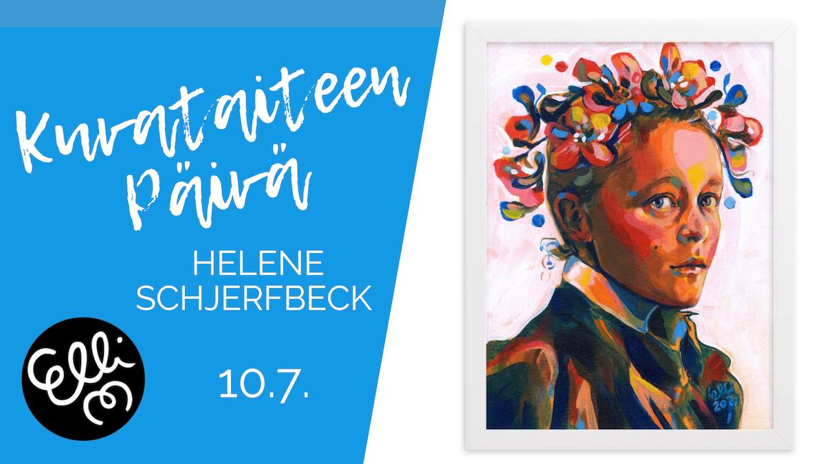 Kuvataiteen päivä Helene Schjerfbeck -muotokuva Elli Maanpää 10.7.